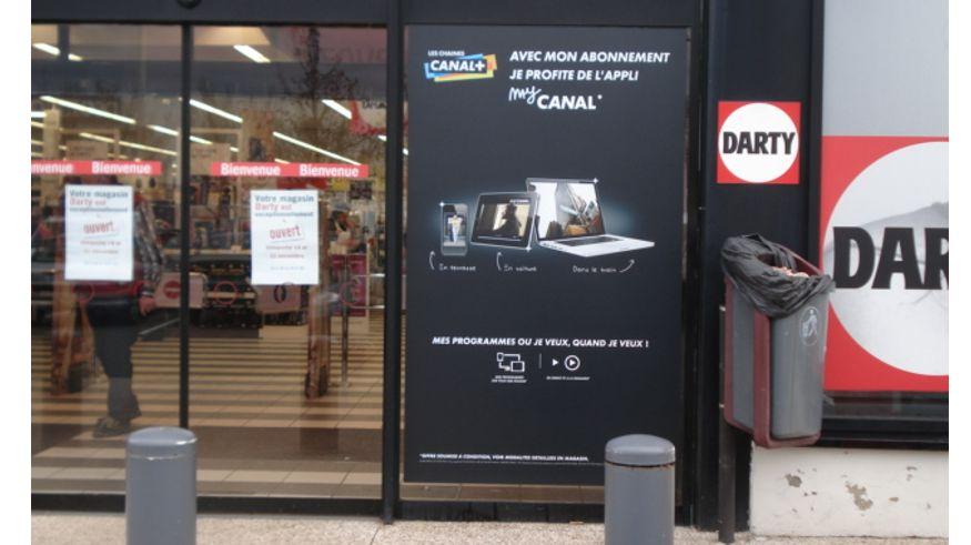 Impression numérique vitrine