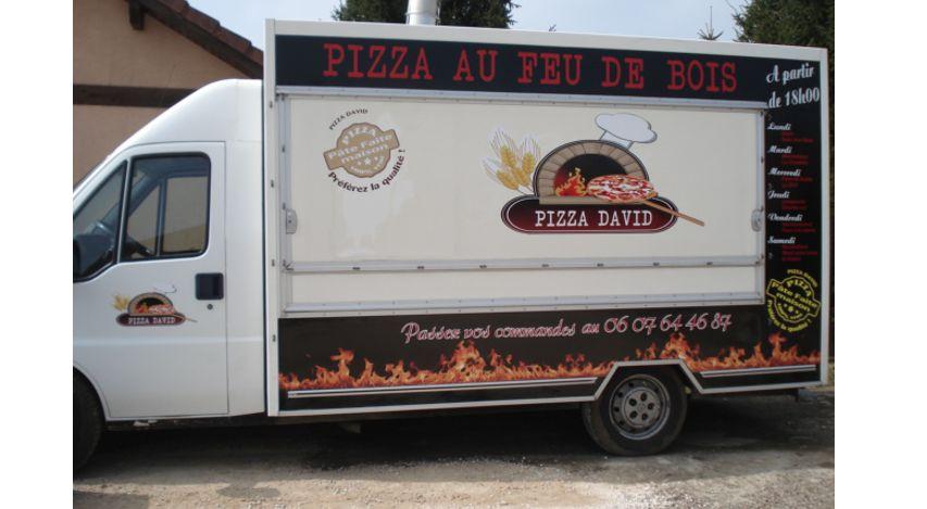 Décoration camion pizza